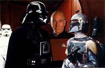 Darth Vader, Boba Fett and Jean Luc