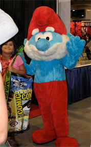 Papa Smurf at Comic-con